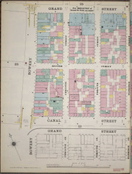 Manhattan, NY Fire Insurance 1894 Sheet 24 1/2 l V1 - Old Map Reprint - New York