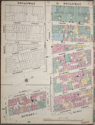 Manhattan, NY Fire Insurance 1894 Sheet 24 L V1 - Old Map Reprint - New York