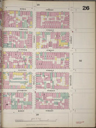 Manhattan, NY Fire Insurance 1894 Sheet 26 R V1 - Old Map Reprint - New York