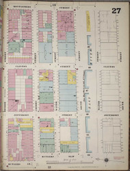 Manhattan, NY Fire Insurance 1894 Sheet 27 R V1 - Old Map Reprint - New York