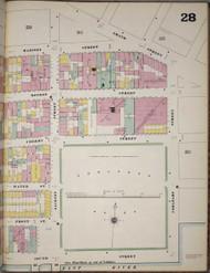 Manhattan, NY Fire Insurance 1894 Sheet 28 R V1 - Old Map Reprint - New York