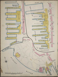 Manhattan, NY Fire Insurance 1894 Piers Map 1 V1 - Old Map Reprint - New York