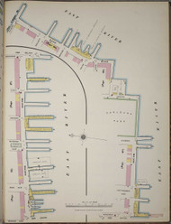 Manhattan, NY Fire Insurance 1894 Piers Map 4 V1 - Old Map Reprint - New York