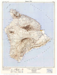 Hawaii 1954 - Custom USGS Old Topo Map - Hawaii