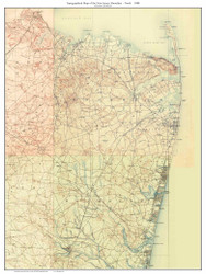 New Jersey Shoreline (Northern) 1888 - Custom USGS Old Topo Map - New Jersey