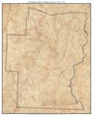 Windham County 1894-1933 - Custom USGS Old Topo Map - Vermont