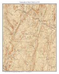 Athens 1933 - Custom USGS Old Topo Map - Vermont