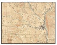 Brattleboro 1893 - Custom USGS Old Topo Map - Vermont