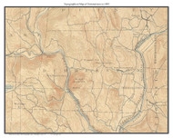Dummerston 1893 - Custom USGS Old Topo Map - Vermont