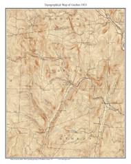 Grafton 1933 - Custom USGS Old Topo Map - Vermont