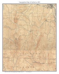 Guilford 1893 - Custom USGS Old Topo Map - Vermont