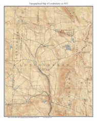 Londonderry 1933 - Custom USGS Old Topo Map - Vermont