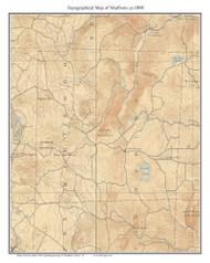 Marlboro 1898 - Custom USGS Old Topo Map - Vermont
