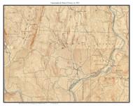 Putney 1933 - Custom USGS Old Topo Map - Vermont