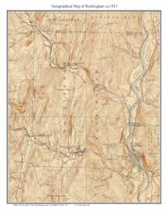 Rockingham 1933 - Custom USGS Old Topo Map - Vermont