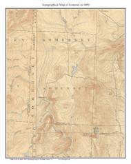 Somerset 1899 - Custom USGS Old Topo Map - Vermont