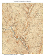 Townshend 1899 - Custom USGS Old Topo Map - Vermont