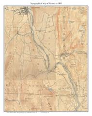 Vernon 1933 - Custom USGS Old Topo Map - Vermont
