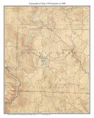 Whitingham 1898 - Custom USGS Old Topo Map - Vermont