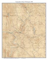 Wilmington 1898 - Custom USGS Old Topo Map - Vermont