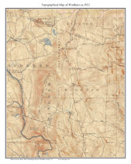 Windham 1933 - Custom USGS Old Topo Map - Vermont