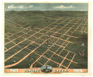 Bowling Green, Kentucky 1871 Bird's Eye View