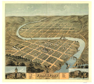 Frankfort, Kentucky 1871 Bird's Eye View