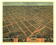 Lexington, Kentucky 1871 Bird's Eye View