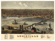 Louisville, Kentucky 1876 Bird's Eye View