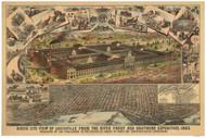 Louisville, Kentucky 1883 Bird's Eye View