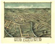Paris, Kentucky 1870 Bird's Eye View