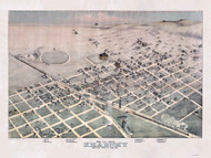 Kearney, Nebraska 1881 Bird's Eye View