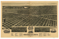 Kearney, Nebraska 1889 Bird's Eye View