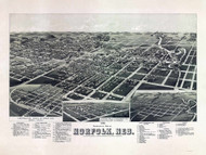Norfolk, Nebraska 1889 Bird's Eye View