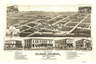 Clark, South Dakota 1883 Bird's Eye View