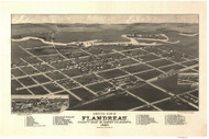 Flandreau, South Dakota 1883 Bird's Eye View