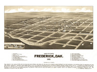 Frederick, South Dakota 1883 Bird's Eye View