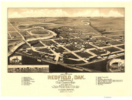 Redfield, South Dakota 1883 Bird's Eye View