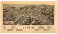 Durham, North Carolina 1891 Bird's Eye View