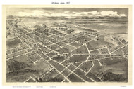 Hickory, North Carolina 1907 Bird's Eye View