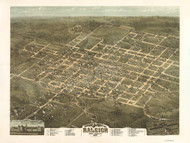 Raleigh, North Carolina 1872 Bird's Eye View