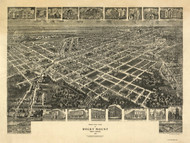 Rocky Mount, North Carolina 1907 Bird's Eye View