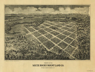 South Rocky Mount, North Carolina 1900 Bird's Eye View