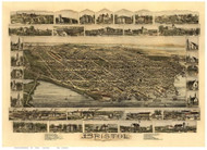 Bristol, Rhode Island 1891 Bird's Eye View