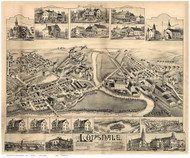 Lonsdale, Rhode Island 1888 Bird's Eye View