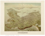 Newport, Rhode Island 1878 Bird's Eye View