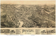Pascoag, Rhode Island 1895 Custom Bird's Eye View