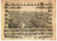 Pascoag, Rhode Island 1895 Bird's Eye View