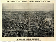 Providence, Rhode Island 1895 Bird's Eye View
