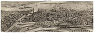 Providence, Rhode Island ca1896 Custom Bird's Eye View